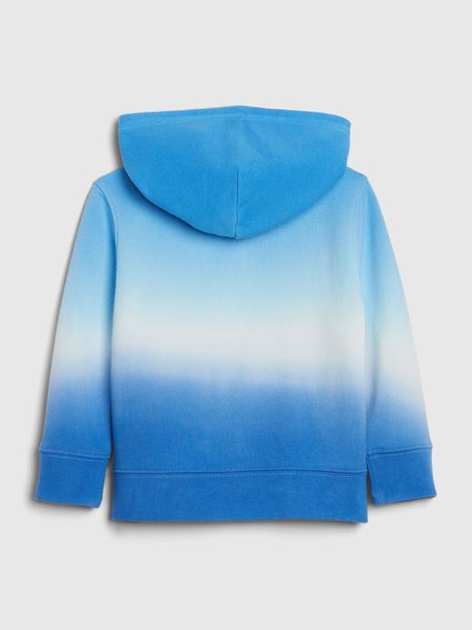 Erkek Bebek Mavi Gap Logo Kapüşonlu Sweatshirt