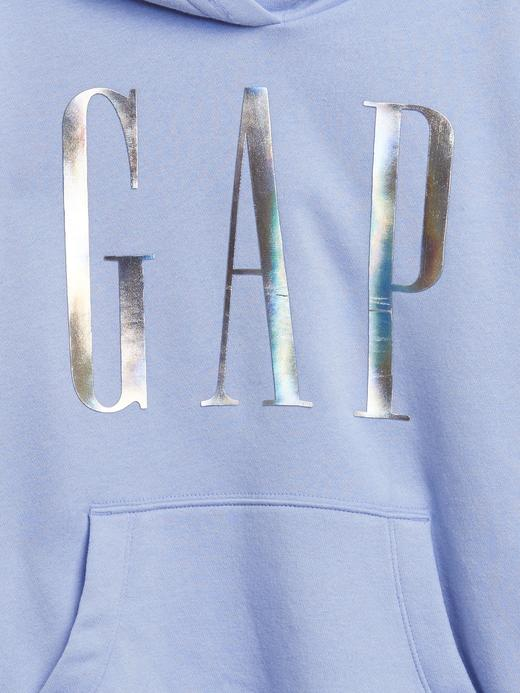 Kız Çocuk Pembe Gap Logo Kapüşonlu Tunik Sweatshirt
