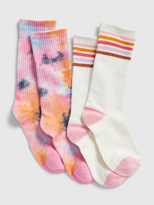 Kız Çocuk Çok Renkli 2'li Çorap Seti