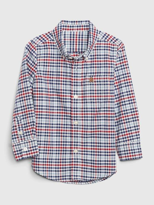 Erkek Bebek Çok Renkli Saf Pamuklu Oxford Gömlek