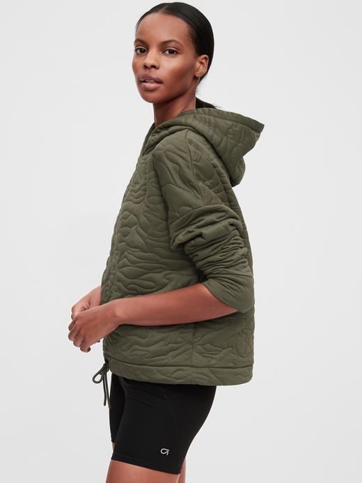 Kadın Yeşil Kapüşonlu Pullover Sweatshirt