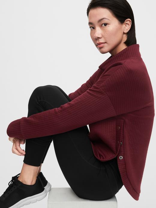 Kadın Siyah GapFit Pullover Sweatshirt