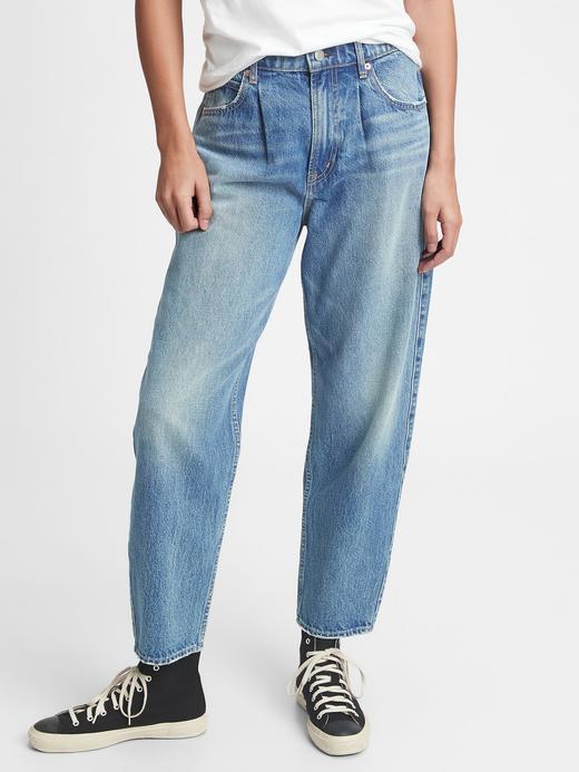Kadın Mavi High Rise Jean Pantolon