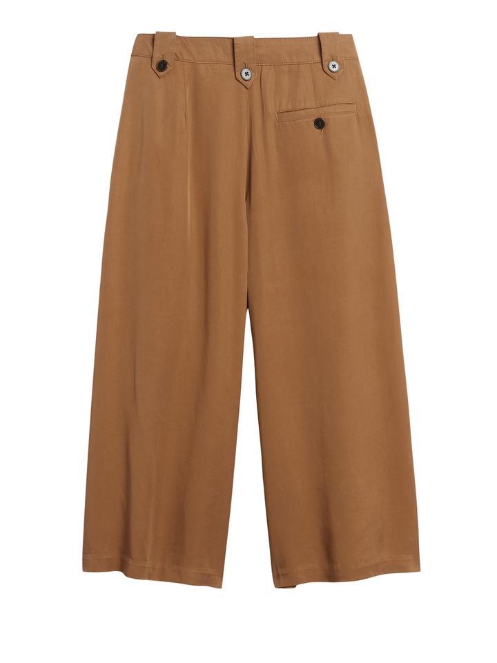 Kadın Kahverengi High-Rise TENCEL™ Pantolon