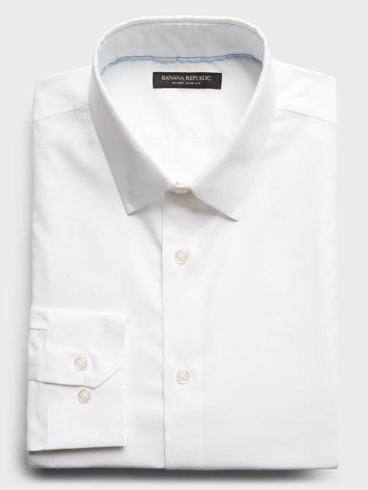 Erkek Beyaz Slim-Fit Hi-Dri Gömlek
