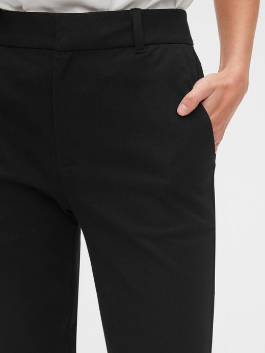 Kadın lacivert High Rise Slim Ankle Pantolon