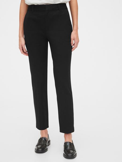 Kadın Siyah High Rise Slim Ankle Pantolon