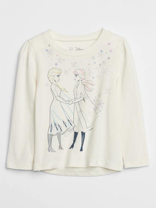 Kız Bebek Bej Disney Frozen Uzun Kollu T-Shirt