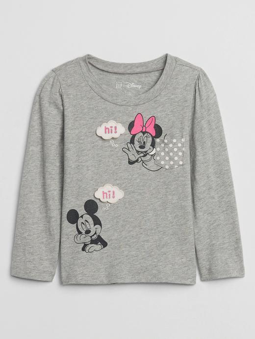 Kız Bebek Gri Disney Minie Mouse T-Shirt