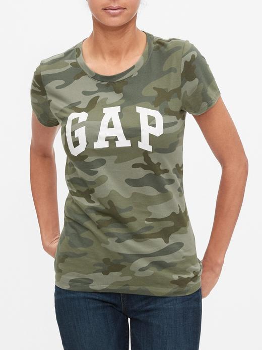 Kadın Yeşil 2'li Gap Logo T-shirt Seti