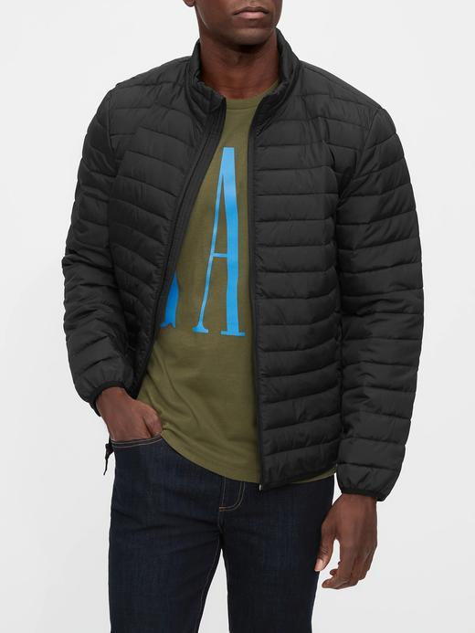 Erkek Siyah Pufa Mont