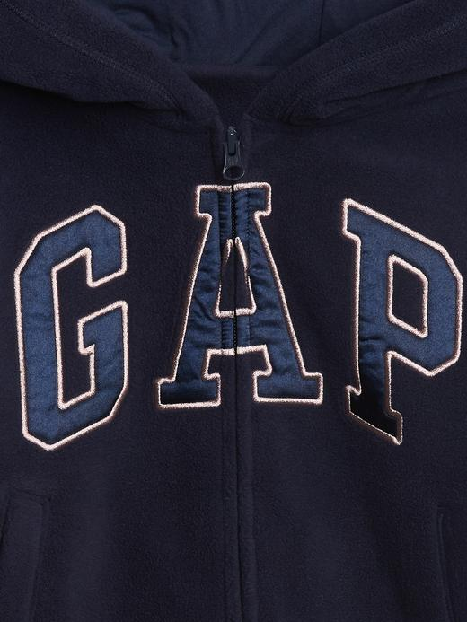 Kız Çocuk Mor Gap Logo Kapüşonlu Sweatshirt