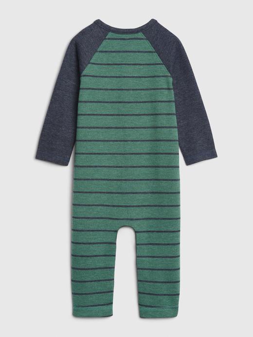 Erkek Bebek Yeşil Uzun Kollu Tulum