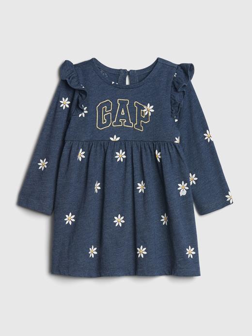 Kız Bebek Lacivert Gap Logo Elbise
