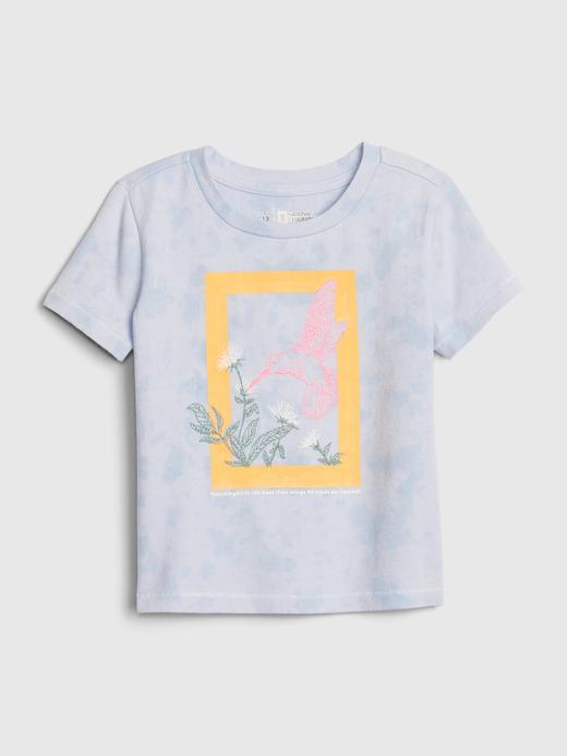 Kız Bebek Mavi National Geographic Kısa Kollu T-Shirt
