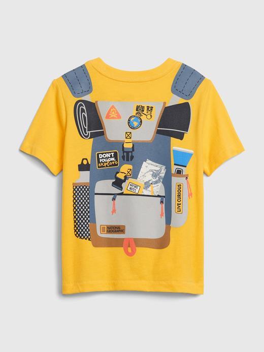 Erkek Bebek Sarı National Geographic Kısa Kollu T-Shirt