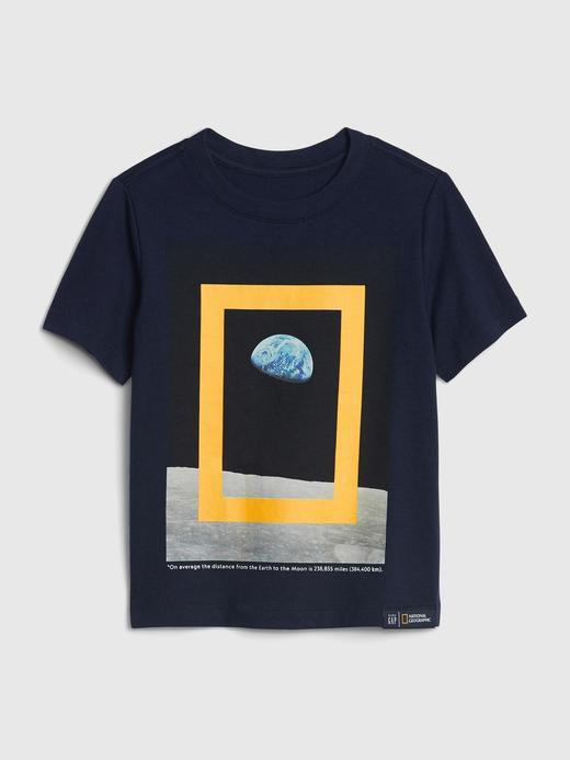 Erkek Bebek lacivert National Geographic Kısa Kollu T-Shirt
