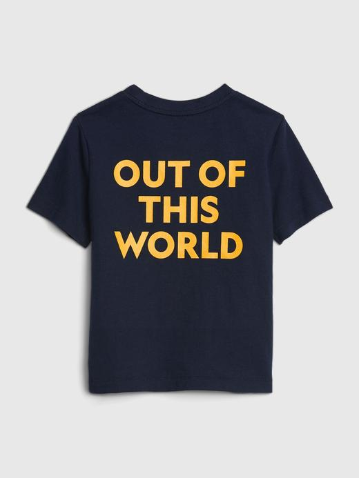 Erkek Bebek Beyaz National Geographic Kısa Kollu T-Shirt