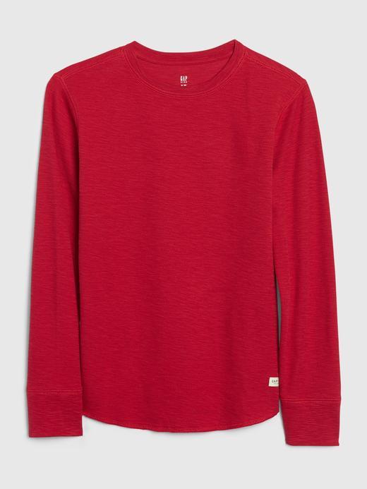 Erkek Çocuk Kırmızı Uzun Kollu T-Shirt