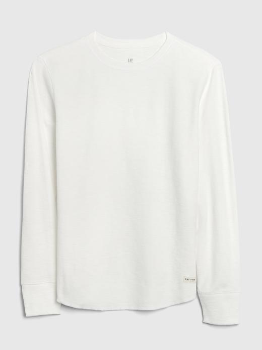 Erkek Çocuk Beyaz Uzun Kollu T-Shirt