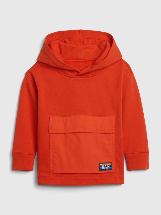 Erkek Bebek Turuncu Fit Tech Kapüşonlu Sweatshirt
