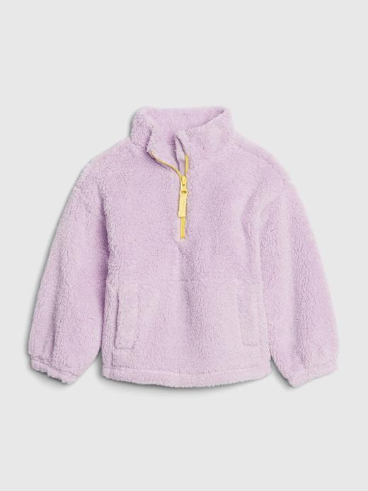 Kız Bebek Pembe Sherpa Sweatshirt