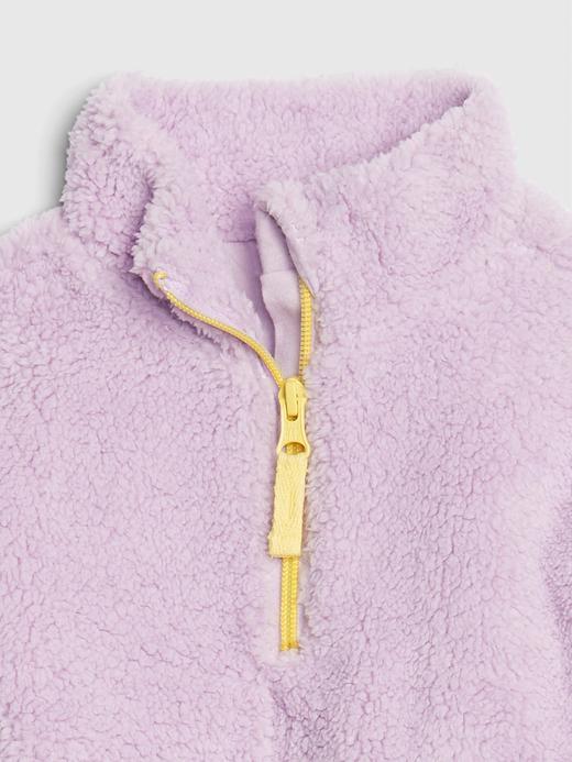 Kız Bebek Turuncu Sherpa Sweatshirt