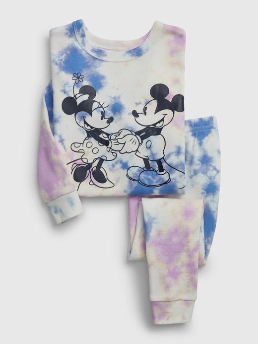 Erkek Bebek kırık beyaz Disney Mickey ve Minnie Mouse Pijama Takımı