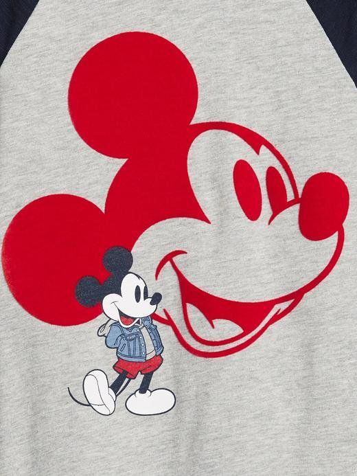 Erkek Bebek Beyaz Disney Mickey Mouse Uzun Kollu T-Shirt