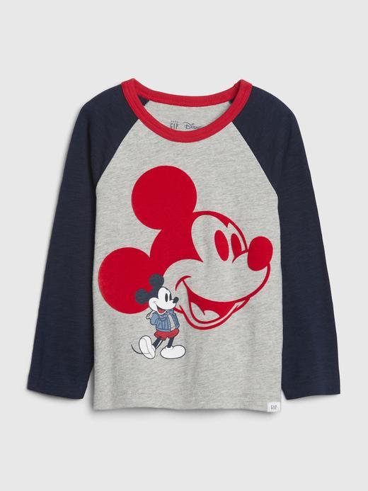 Erkek Bebek Gri Disney Mickey Mouse Uzun Kollu T-Shirt