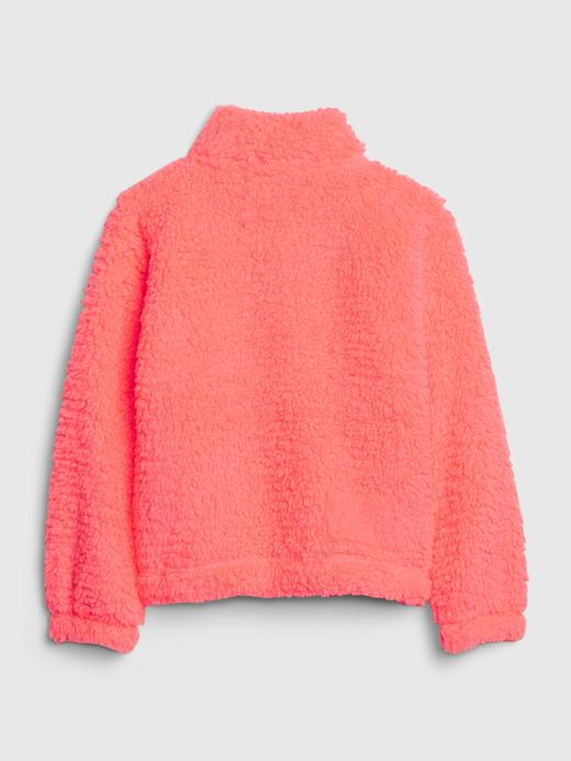 Kız Çocuk Beyaz Sherpa Sweatshirt