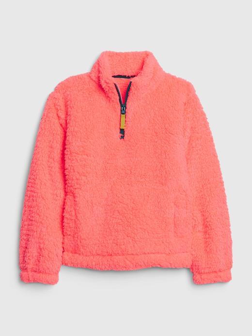 Kız Çocuk Pembe Sherpa Sweatshirt