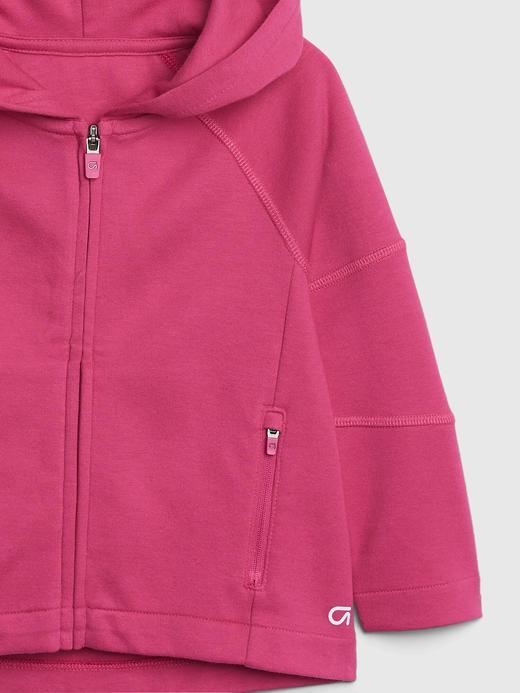 Kız Bebek Pembe Fit Tech Kapüşonlu Sweatshirt
