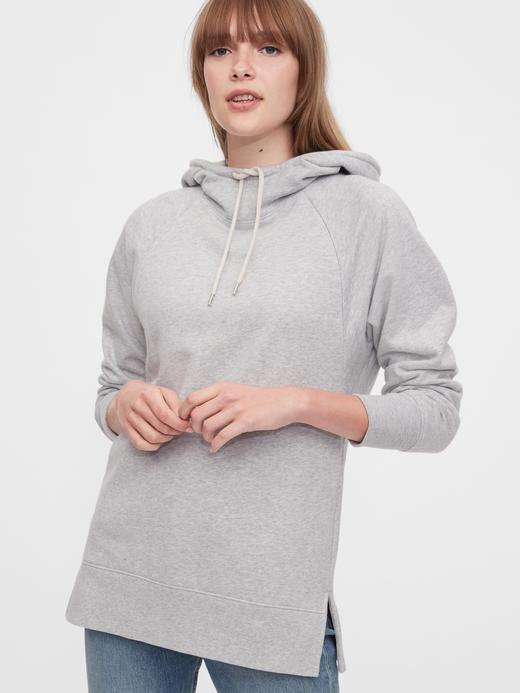 Kadın Gri Maternity Kapüşonlu Sweatshirt