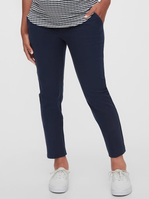Lacivert Maternity Slim Ankle Pantolon