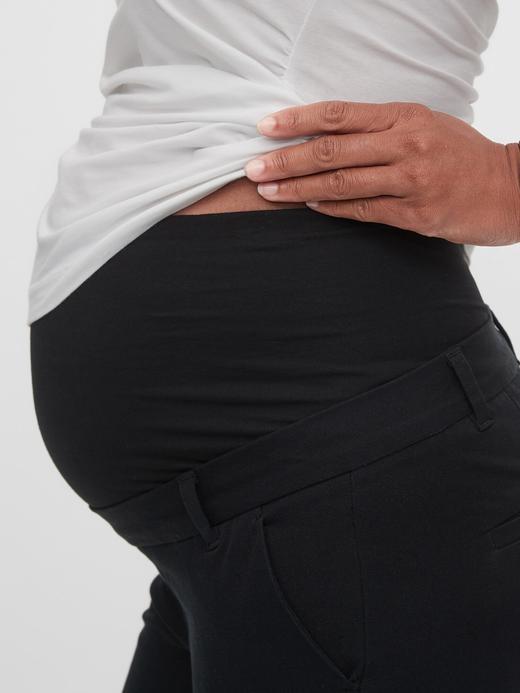 Siyah Maternity Slim Ankle Pantolon