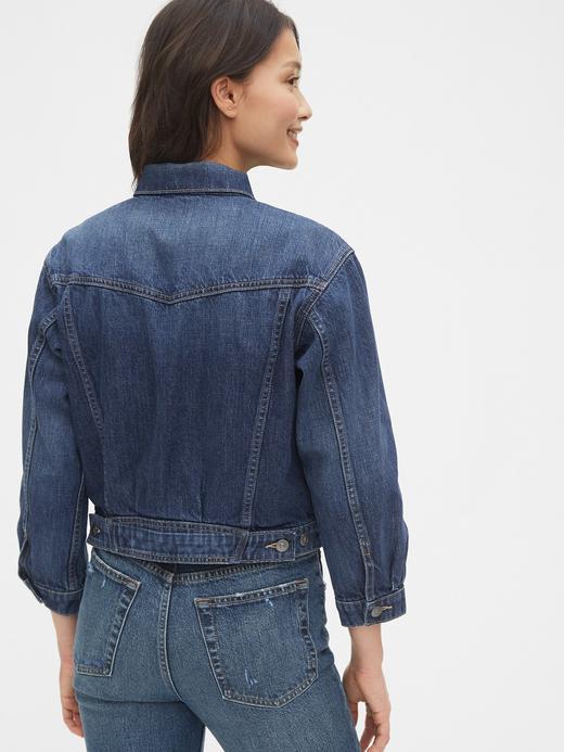 Kadın Mavi BetterMade Cropped Icon Denim Ceket