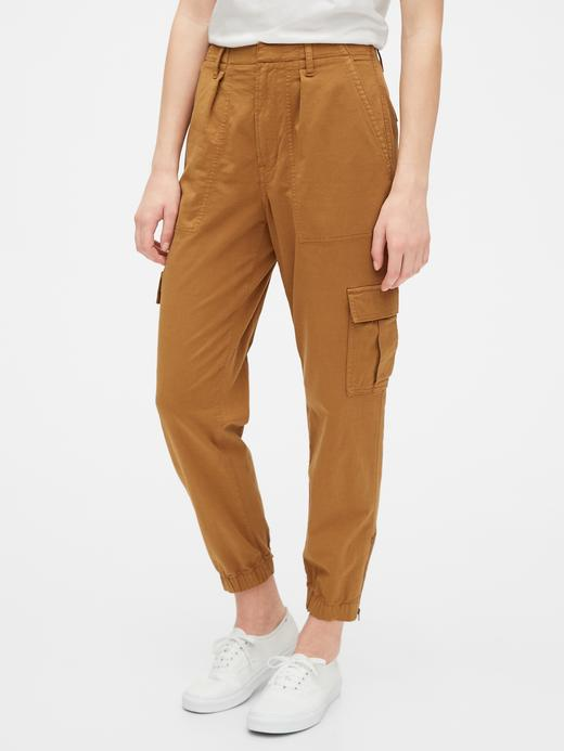 Kadın Kahverengi TENCEL™ Cargo Utility Jogger Pantolon