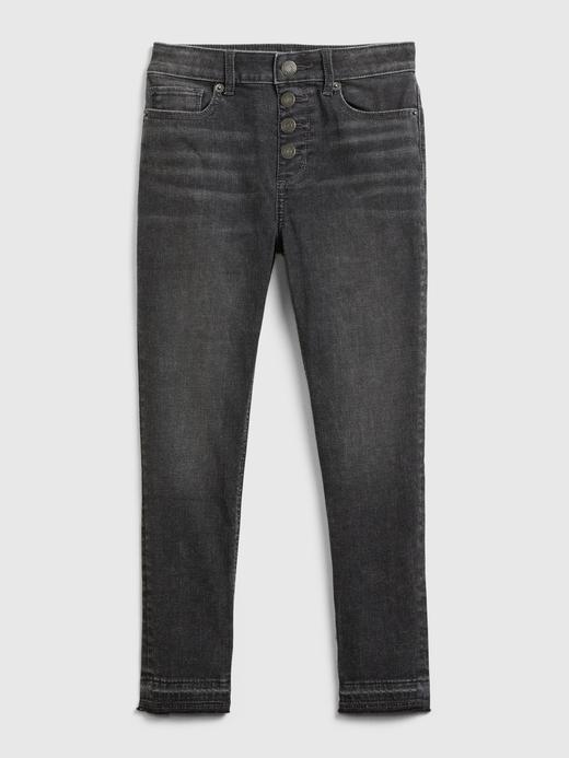 Kız Çocuk Siyah High Rise Ankle Jegging Jean Pantolon