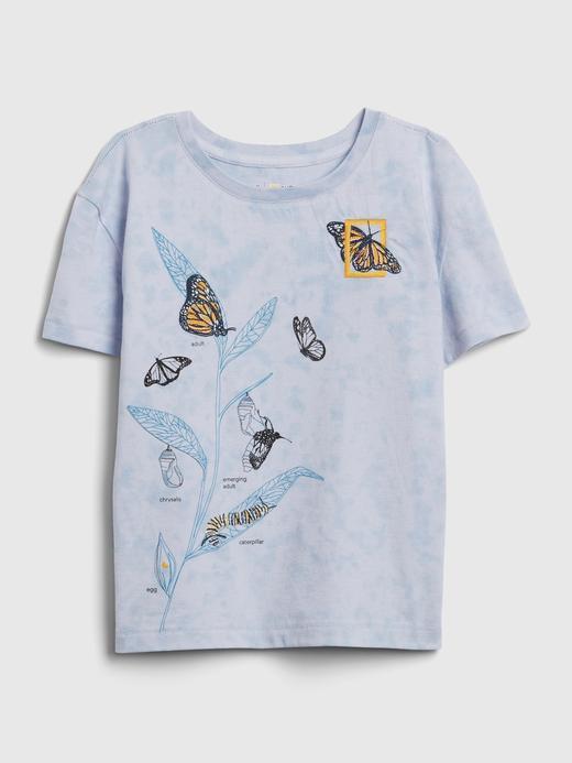Kız Çocuk Mavi National Geographic Kısa Kollu T-Shirt