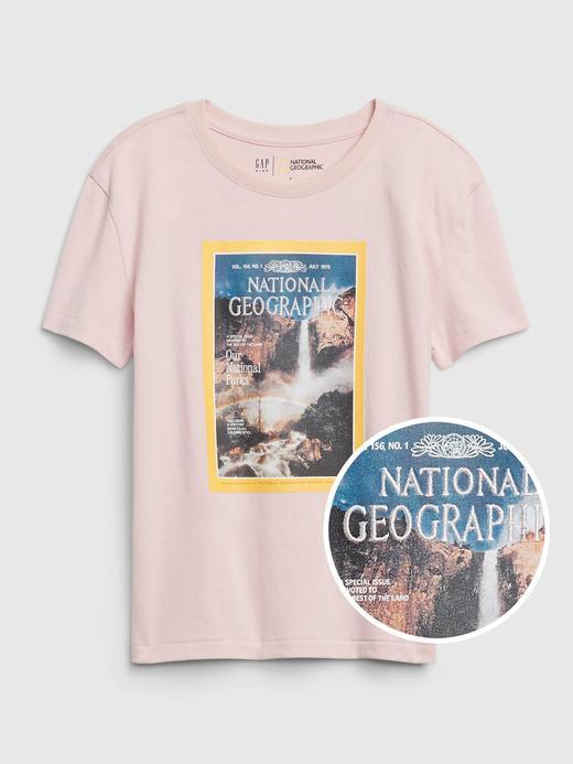 Kız Çocuk Pembe National Geographic Kısa Kollu T-Shirt