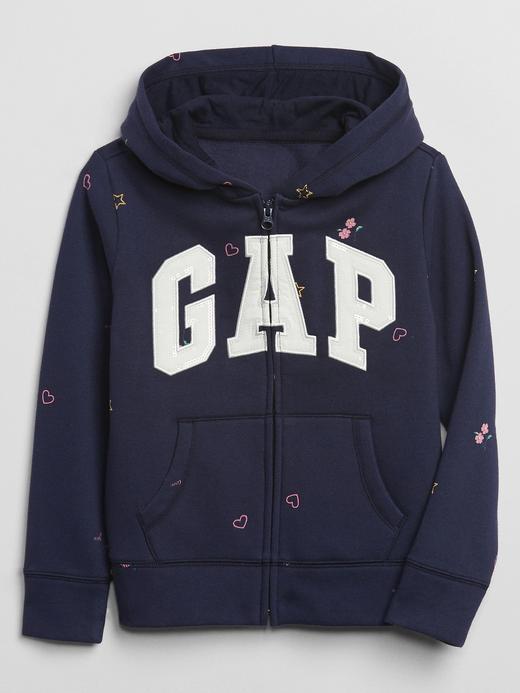 Kız Çocuk Lacivert Gap Logo Kapüşonlu Sweatshirt