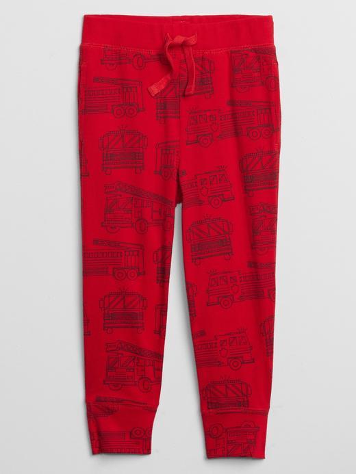 Erkek Bebek Kırmızı Grafik Pull-On Eşofman Altı
