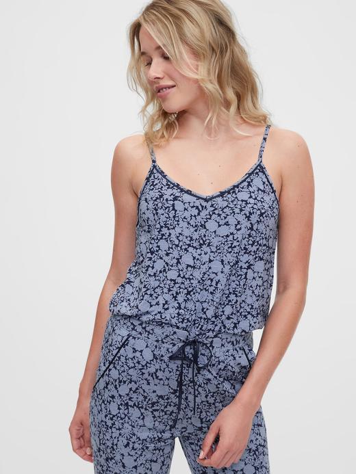 Kadın Lacivert Modal Pijama Üstü