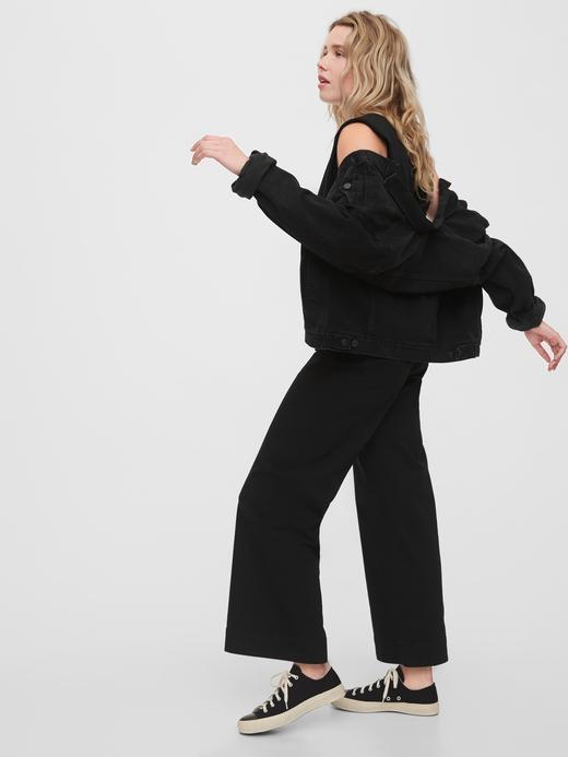Kadın Yeşil High Rise Wide-Leg Pantolon