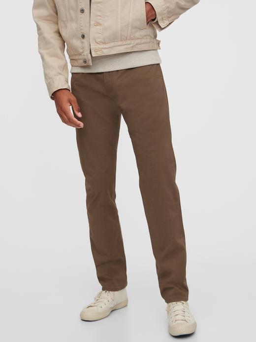 Erkek Kahverengi GapFlex Slim Jean Pantolon