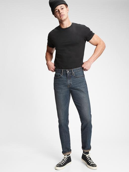 Erkek Lacivert GapFlex Slim Straight Jean Pantolon