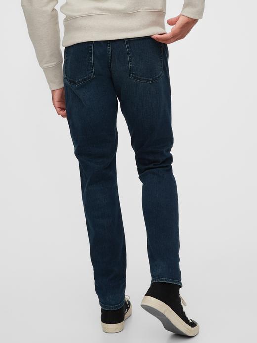 Erkek Mavi Slim Taper Jean Pantolon