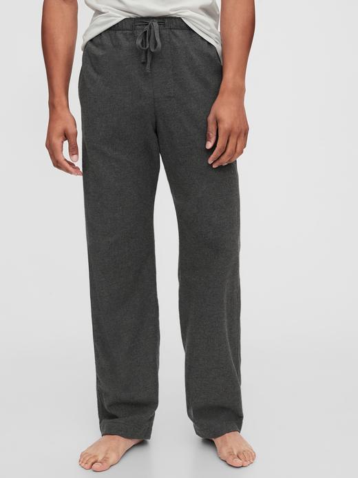 Erkek Gri Saf Pamuklu Pijama Altı