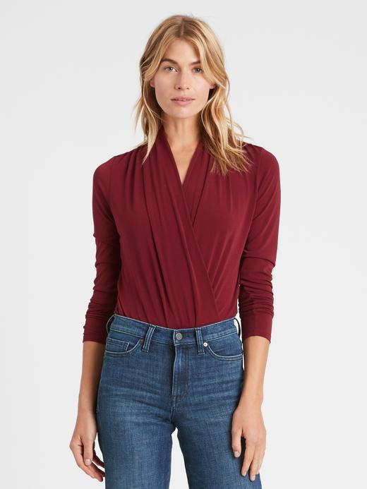 Kadın Kırmızı Kruvaze Body Bluz